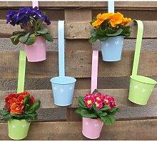 6 Stück Blumentöpfe zum Hängen, Ø 10,5 cm H 20 cm