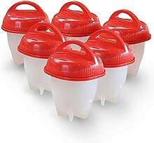 6 Stück DIY Eierkocher Tassen Pochierer
