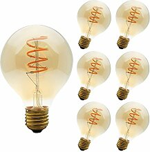 6 Stück Edison Vintage Glühbirne 4W,LED Lampe