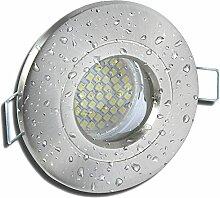6 Stück IP54 SMD LED Bad Einbauleuchte Rain 230