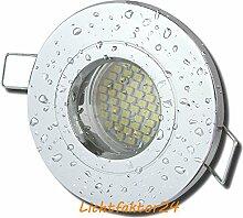 6 Stück IP54 SMD LED Bad Einbaustrahler Nautilus