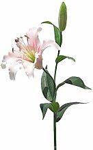 6 Stück künstliche Lilien-Blumenstrauß Seide