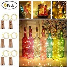 6 Stück LED Flaschenlicht, Sanniu 20 LEDs 2M