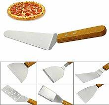 6 Stück Metall Pizza Peel Multifunktions-Profi