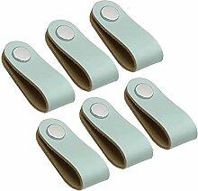 6 Stück Moderne Weiche Leder Schrankgriffe
