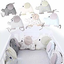 6 Stück Nestchen Babybett, Bettumrandung Kissen,