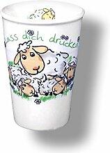 6 Stück- Porzellan- Milchbecher, Becher, maritim - Knuddelige Schafsfamilie- deutsches Produktdesign