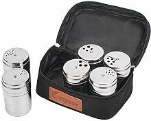 6 Stück Salz- und Pfefferstreuer Set – Bisgear