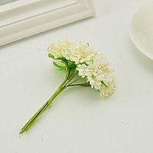 6 Stück Seidenfloristen Chrysantheme Künstliche