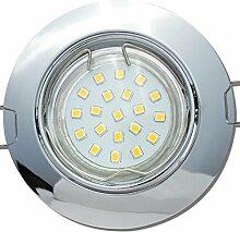 6 Stück SMD LED Einbaustrahler Fabian 12 Volt 3