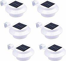 6 Stück Solarlampe Gartenlampe Außenlampe