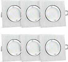 6 Stück SSC-LUXon QW-2 Einbaustrahler LED flach