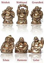 6 stück verschiedene Buddha Figuren