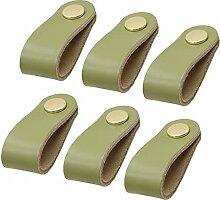6 Stück Weiche Leder Kommode Griffe