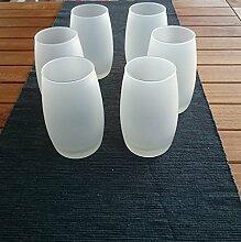 6 Stück Windlicht Milchglas , mediteranes Flair , Garten, Ambiente, Deko Lich