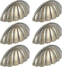 6 stücke Muschel Schublade Knöpfe Griff