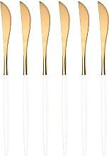 6 Stücke Neue Goldene Besteck Set Spiegel Besteck