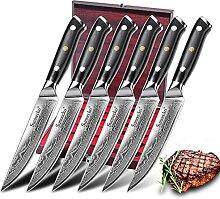 6 stücke Steakmesser Set mit exquisiten