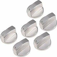 6 Stücke Universal Silber Gas Herd Steuer Knöpfe