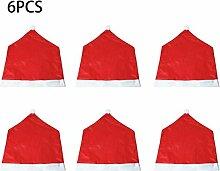 6 Stücke Weihnachten Stuhlabdeckung