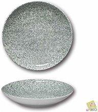 6 Suppenteller aus Porzellan, 26 cm Durchmesser,