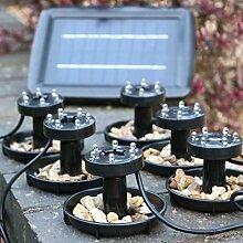 6 Tauchpumpe Solar Teich – Unterwasser Wasserdicht Lichter für Pool Beleuchtung, Garten 2 W von PK Green