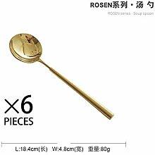 6 Teile/satz Elegantes Goldenes Besteck Gold