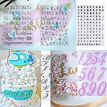6-teiliges Alphabet-Kuchenstempel-Werkzeug,