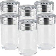 6-teiliges stilvolles Gewürzstreuer-Set aus Glas