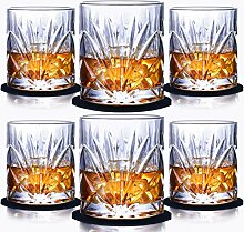 6-teiliges Whisky Gläser-Bleifrei Kristallgläser