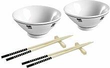 6-tlg. Geschirr-Set Chinese aus Porzellan