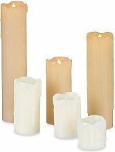 6-tlg. LED-Kerze Set Relaxdays