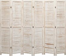 6-tlg. Raumteiler 210x165 cm Holz 24751 - Topdeal