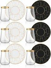 6-tlg. Teeglas/Kaffeeglas-Set Andy