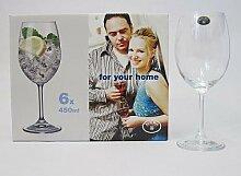 6 tlg Weinglas Set Rotwein Wein Glas Weingläser 250 ml
