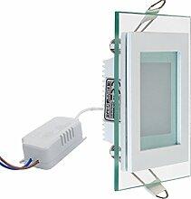 6 Watt LED Slim Flach Panel mit Glas Rahmen