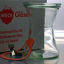 6 WECK ® 370ml Delikatessen RR80 Einkochgläser