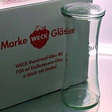 6 WECK ® 700ml Delikatessen RR80 Einkochgläser