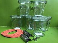 6 Weck Glas 290ml Sturzglas mit Deckel und 6