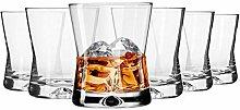 6 Whiskygläser Set 290 ml Whiskybecher Tumbler