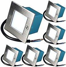 6 x 1.5W LED Wandeinbauleuchte 230V Einbaustrahler