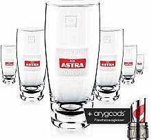 6 x Astra Bier Glas/Gläser 0,4l Willybecher