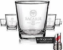 6 x Bacardi Rum Glas Gläser Longdrink ron 8 anos