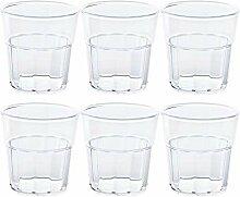 6 x bruchfestes Whiskyglas 250ml Universal-Glas