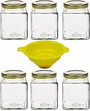 6 x Einmachglas 210 ml Marmeladenglas,
