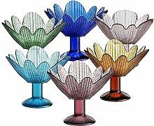 6 X Eisschale Dessertschale Eisbecher Glas Seerose