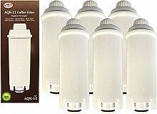 6 x Filterpatrone AquaCrest für Delonghi komp.