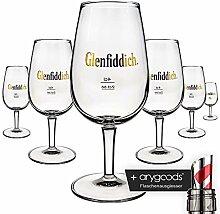 6 x Glenfiddich Glas Gläser Whisky Nosing Nose