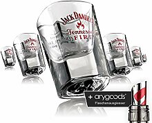 6 x Jack Daniels Glas Gläser Shot Schnaps