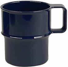 6 x Kaffeebecher, Teetasse, Melamin, blau